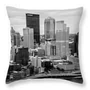 Steel City Skyline Throw Pillow