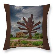 Steel Palm - Peace River Botanical And Sculpture Gardens Throw Pillow