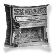 Steinway Piano, 1878 Throw Pillow