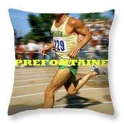Steve Prefontaine, The Legend, Oregon Ducks Throw Pillow