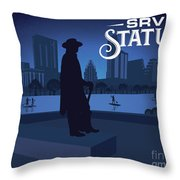 Stevie Ray Vaughan Statue Throw Pillow