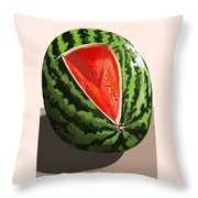 Still Life Watermelon 1 Throw Pillow