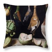 Still Life With Game Fowl Throw Pillow