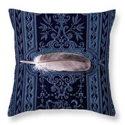 Still Life With Grey Feather Throw Pillow