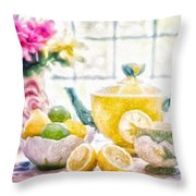 Still Life With Lemons Throw Pillow