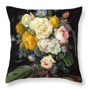 Still Life With Peonies  Throw Pillow