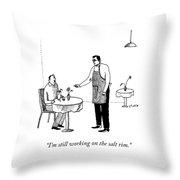 Still Working Throw Pillow