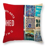 Stitched Quilting Exhibit Throw Pillow