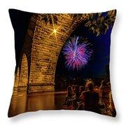 Stone Arch Bridge, July 4 Throw Pillow