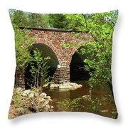 Stone Bridge At The Eastern Entrance Of The Manassas Battlefield  Throw Pillow