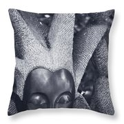 Stone Carving Of An African Woman Throw Pillow