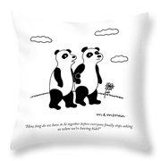 Stop Asking Us Throw Pillow