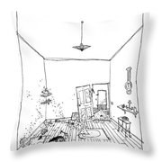 Stop Worrying And Start Hammering Throw Pillow