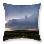 Storm Chasing West South Central Nebraska 048 Throw Pillow