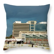 Storm Over Union Station Throw Pillow