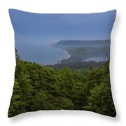 Stormy Day On Sleeping Bear Dunes Throw Pillow