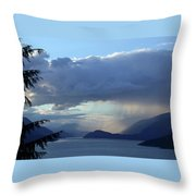 Stormy Inlet Throw Pillow