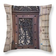 Strasbourg Door 11 Throw Pillow