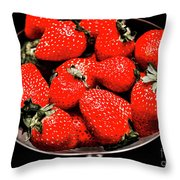 Strawberry Cocktail Throw Pillow