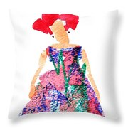 Strawberry Dress Throw Pillow
