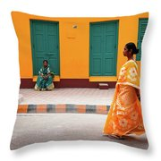 Street Palette Throw Pillow
