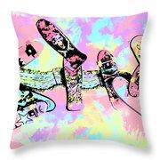 Street Sk8 Pop Art Throw Pillow