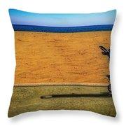 Stroller At The Beach Throw Pillow by Paul Wear