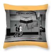 Strolling Hollywood Throw Pillow by Ron Cline