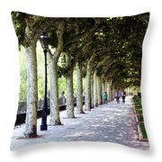 Strolling The Burgos Boulevard Throw Pillow by Rick Locke