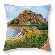 Strolling To The Rock Throw Pillow