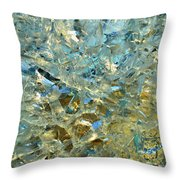 Structures  In Ice Two  Throw Pillow