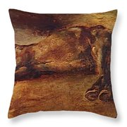 Study For Dead Horse Throw Pillow
