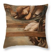 Study For The Garden Court Throw Pillow