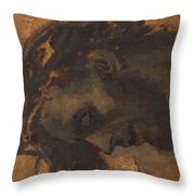 Study For The Head Of Christ In A Crucifixion Throw Pillow