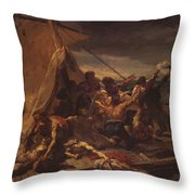 Study For The Raft Of The Medusa Throw Pillow