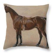 Study Of A Saddled Bay Hunter, 1828  Throw Pillow