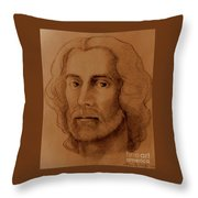 Study Of Head, Drawing Throw Pillow