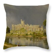 Study Of Windsor Castle Throw Pillow