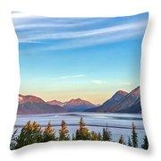 Stunning Alaskan Mountain Lake Throw Pillow