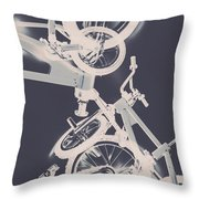 Stunt Bike Trickery Throw Pillow