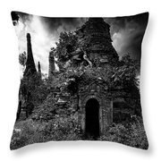 Stupastition Throw Pillow by Chris Lord