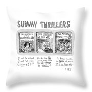 Subway Thrillers Throw Pillow