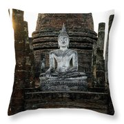Sukhothai Buddha Throw Pillow