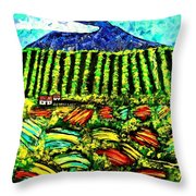 Sumatra Coffee Plantation Throw Pillow