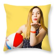 Summer And Beach Love Throw Pillow