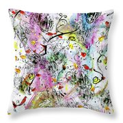 Summer Day By The Artist Catalina Lira Throw Pillow