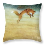 Summer Gold-fox Throw Pillow