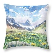 summer in the Alps Throw Pillow