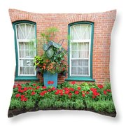 Summer Street Garden Throw Pillow