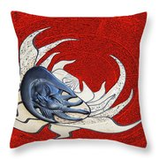 Sun And Moon On Red Throw Pillow